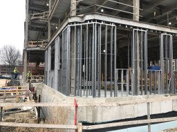 IHSC photo of structure framing