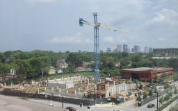 Aerial view of Dodd Garage site