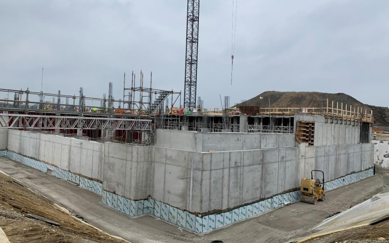 IRF photo of exterior walls