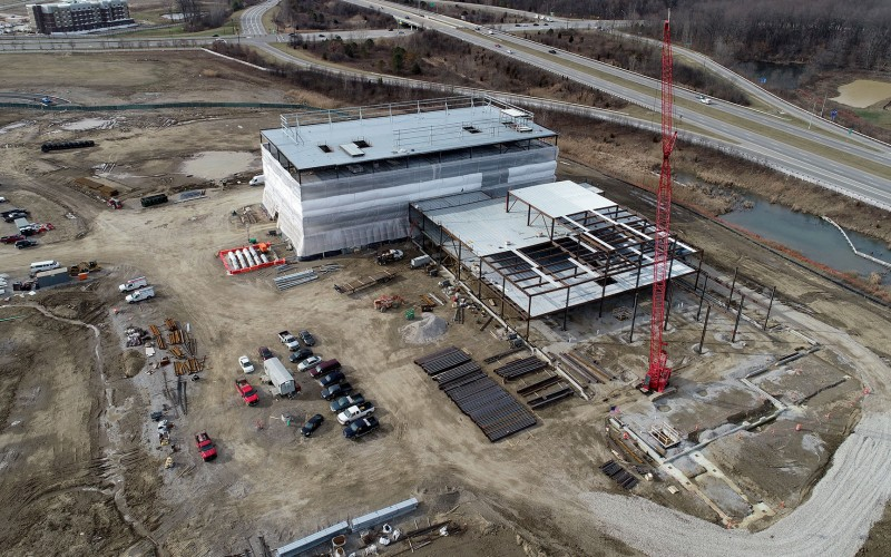 Outpatient Care New Albany - aerial photo of construction