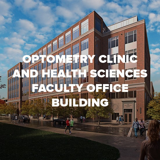 Rendering of Optometry Clinic and Health Sciences Faculty Office Building