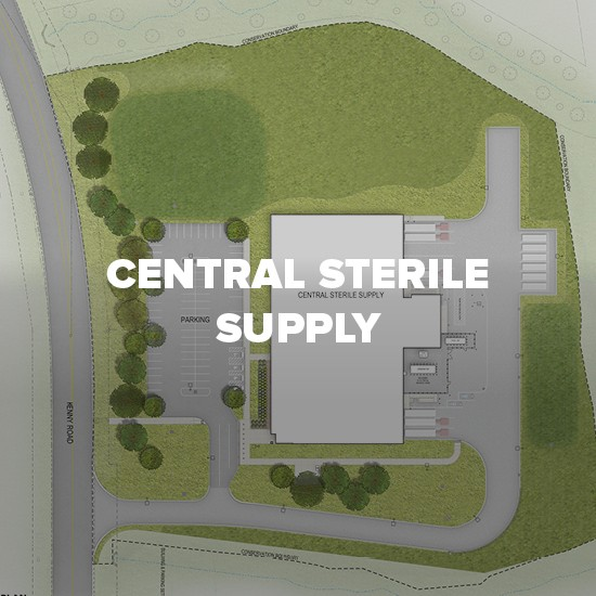 Map of Central Sterile Supply