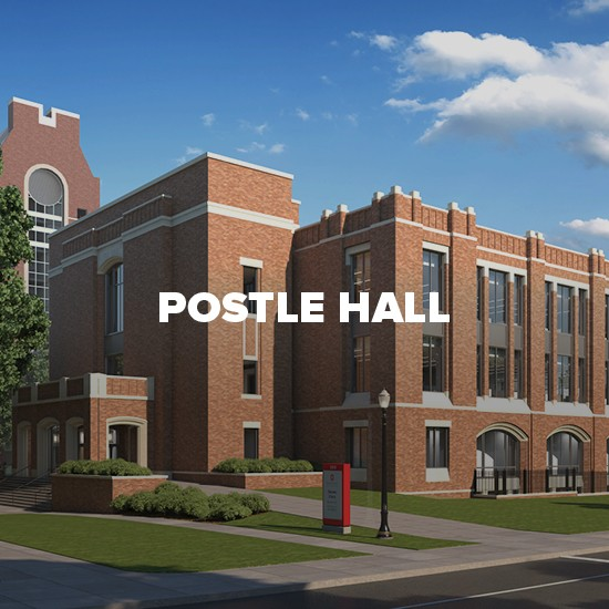 Rendering of Postle Hall