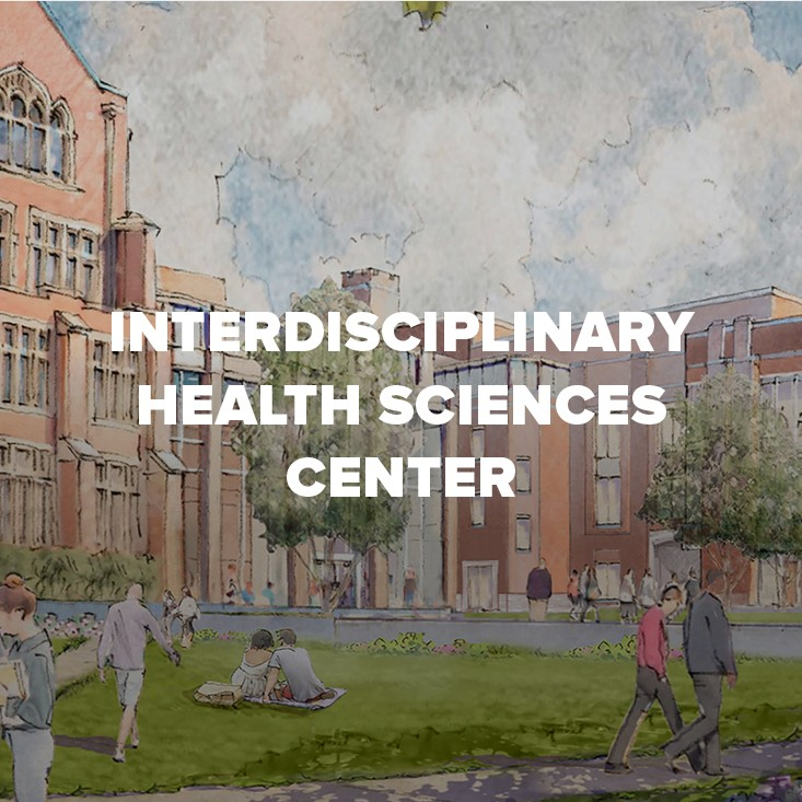 Rendering of Interdisciplinary Health Sciences Center