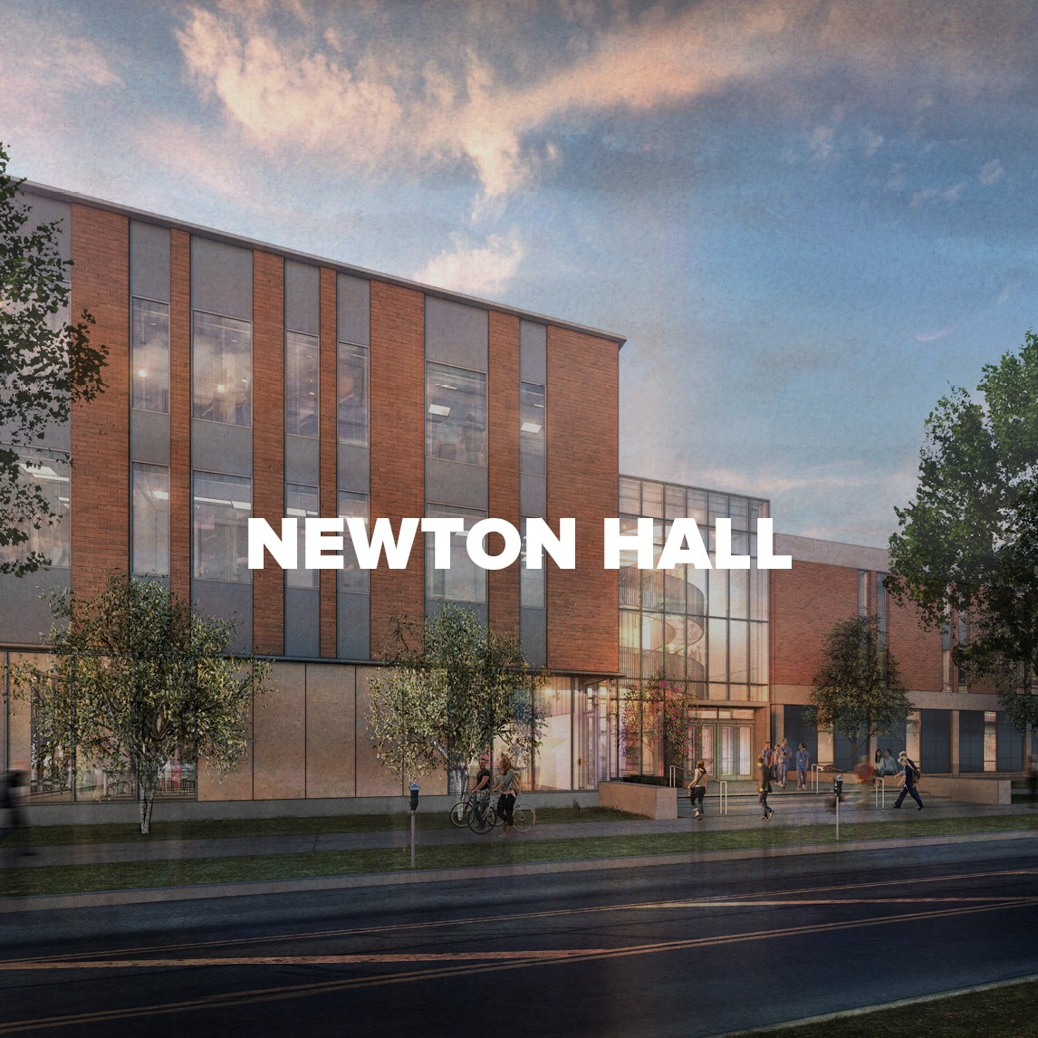 Rendering of Newton Hall