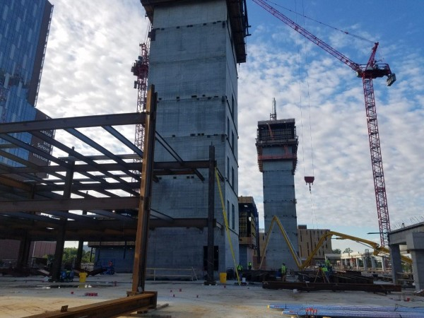 With twice as much steel as the Eiffel Tower, the Wexner Medical Center inpatient hospital will use 15,000 tons of steel.
