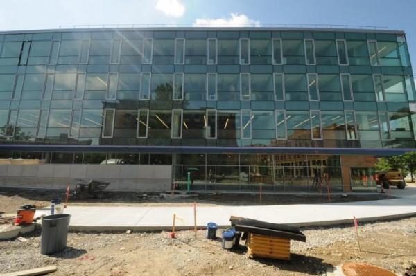 facade of bmed under construction