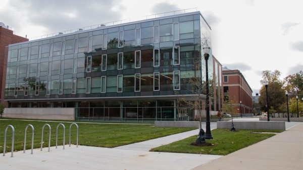 Exterior view of the Mars G. Fontana Laboratories (Biomedical and Materials Engineering Complex)